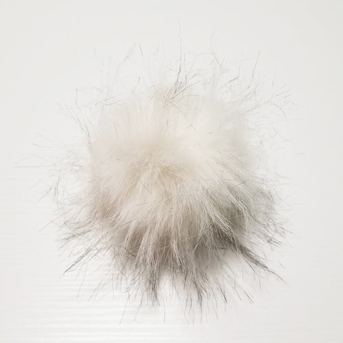 White pom-pom with snaps
