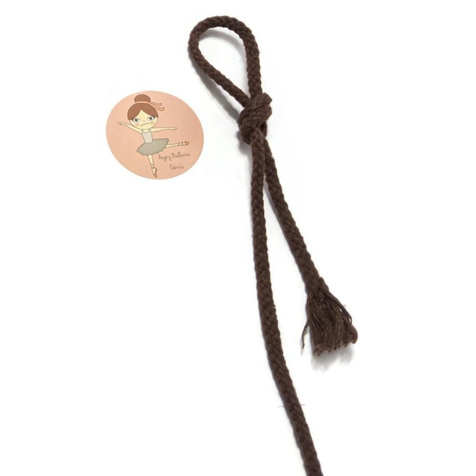7mm Round Drawstring Cord- Brown