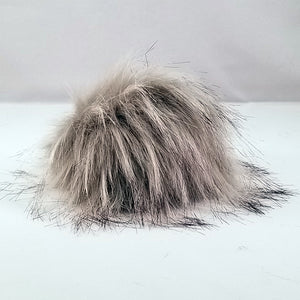 Light Gray pom-pom with snaps
