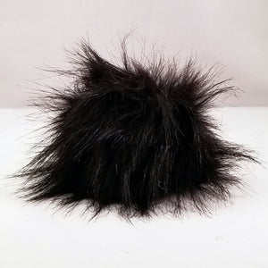 Black pom-pom with snaps