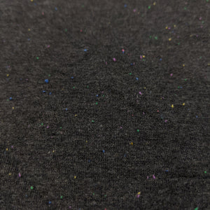 Confetti - Birthday Cake Confetti on Dark Heather Grey - French Terry