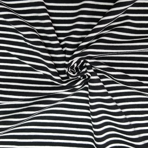 Black and White Stripes (medium) - Jersey Knit