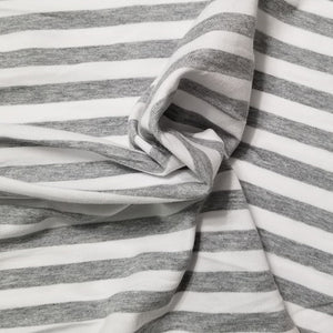 White and Heather gray - Yarn dyed stripes