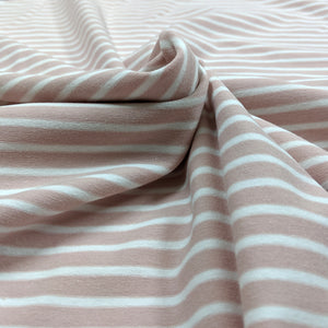 Old Pink and White Stripes - Jersey Knit