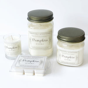 Pumpkin Chai Soy Candle or Wax Melt 6-Pack