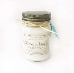 Coconut Lime Verbena Soy Candle Pint 16 oz