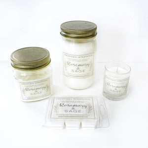 Rosemary & Sage Soy Candles & Wax Melts