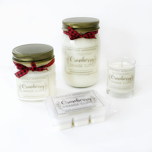 Cranberry Orange Clove Soy Candles & Melts