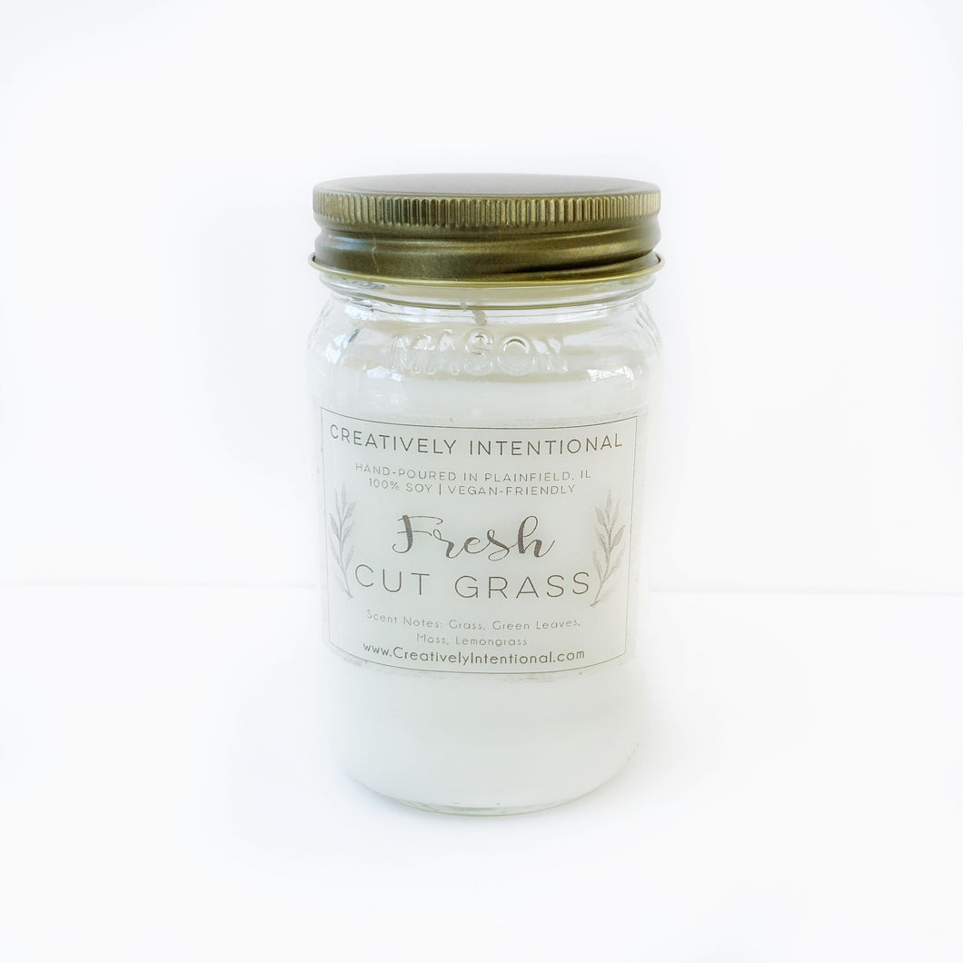 Fresh Cut Grass Soy Candle or Wax Melts