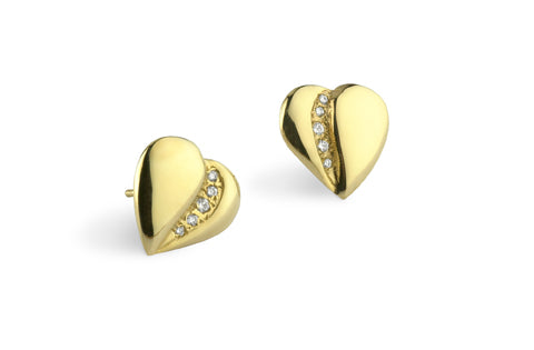 Loving Heart - Five Diamond Earrings