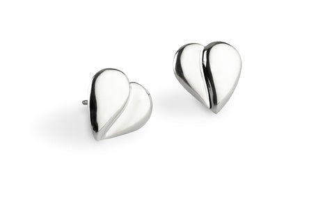 Loving Heart Earrings - Sterling Silver