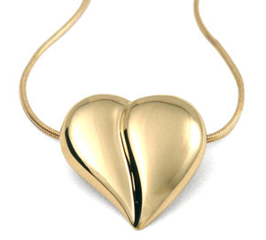 Loving Heart - Classic Heart Necklace - 14K gold