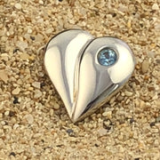 Loving Heart - Bride's Something Blue Pin