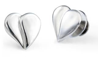 Loving Heart Pins for Two - Sterling Silver