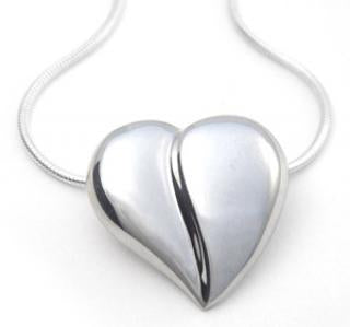Loving Heart - Classic Heart Necklace - Sterling Silver