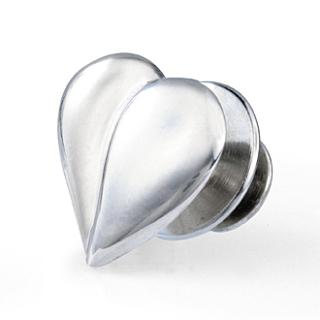Loving Heart Pin - 14K White Gold