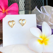 Loving Heart - Classic Heart Earrings - 14K