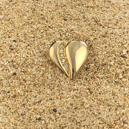 Loving Heart Five Diamond Pin