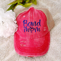 CC Distressed Criss Cross Pony Ball Cap