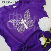 Christian Word Butterfly Graphic Tee