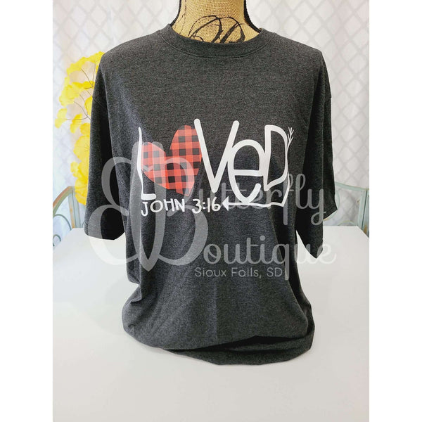 Loved John 3:16 Graphic Tee