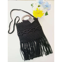 Mahi Mahi Black Macramé Purse