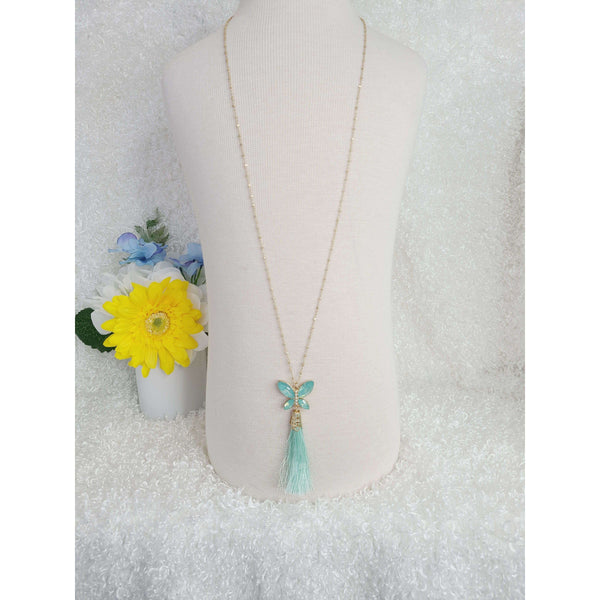 Peacock Swallowtail Butterfly Necklace