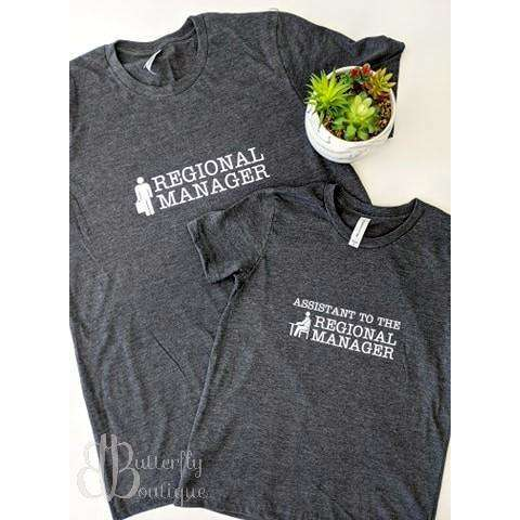 Regional Manager/Assistant Graphic Tee Set