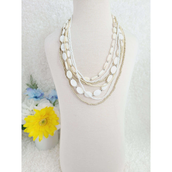 Snow Bunny Multi Strand Necklace