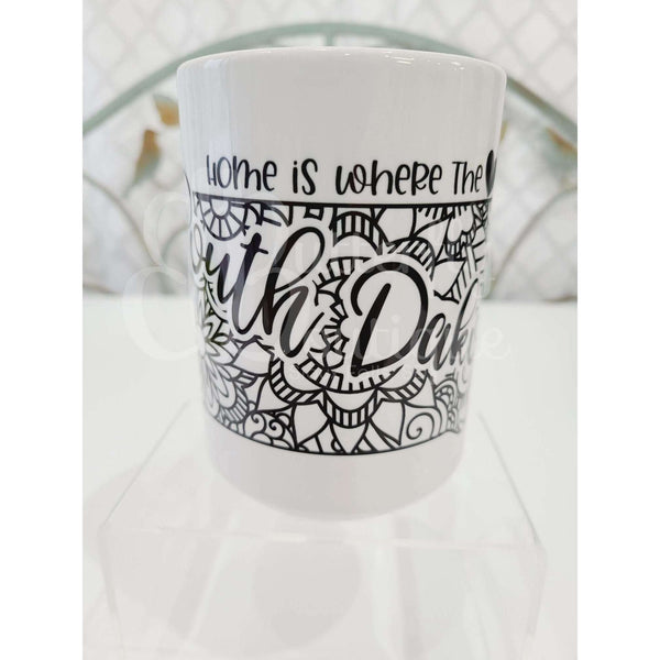 State Zentangle Coffee Mug
