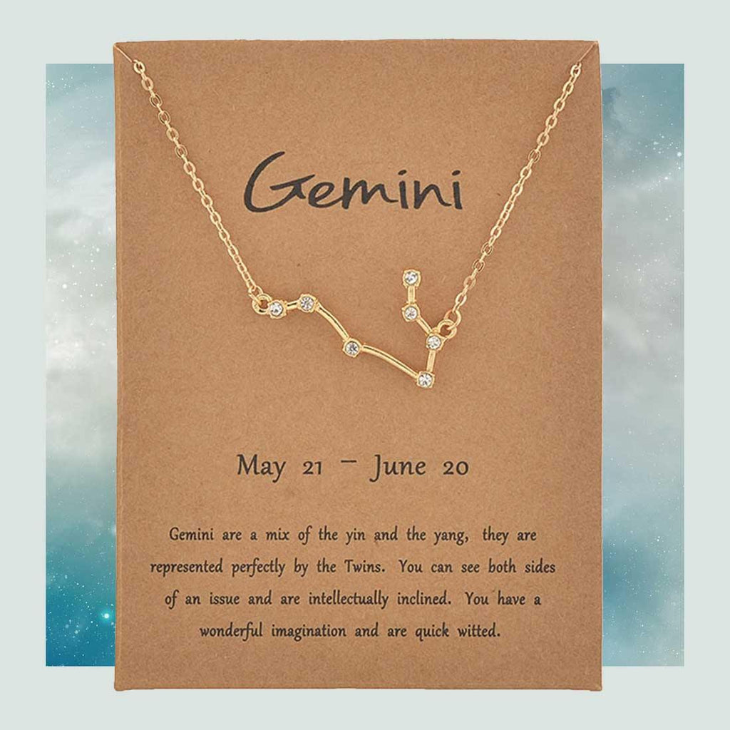 Zodiac Necklace, Astrology Necklace,Zodiac Constellation, Celestial Jewelry, Zodiac Charm Necklace