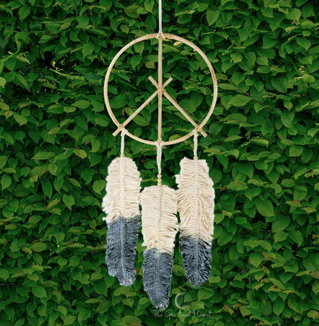 Peace Dreamcatcher Dream Catcher Moon Dream Catcher Designs Macrame Large Dream Catcher Dreamcatcher