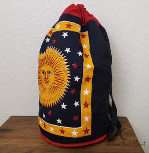 Sun and Moon Backpack Totes canvas bag bag eco bag eco friendly reusable bag cotton bag sustainable bag backpack