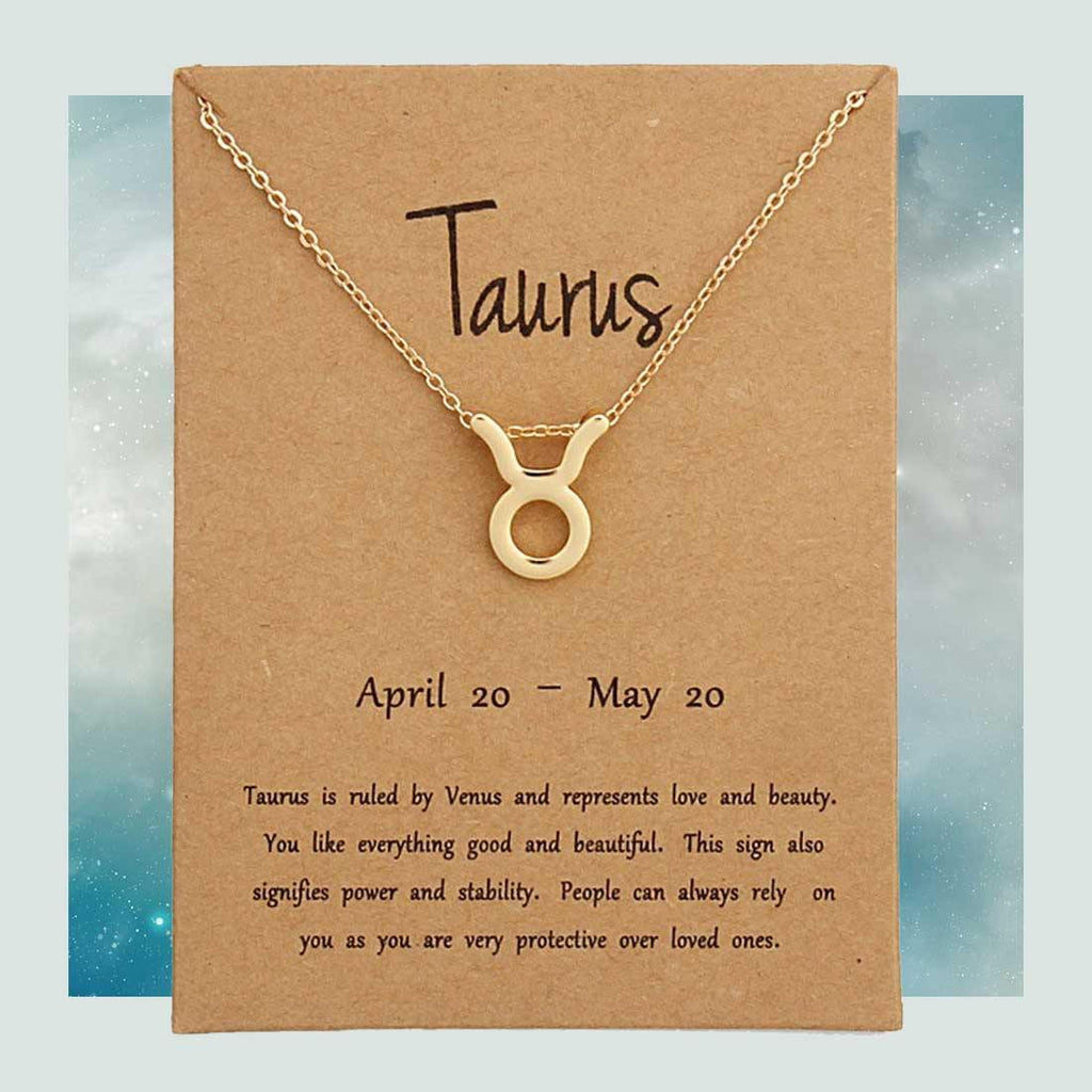 Taurus Zodiac Necklace - The Spiritual Planet