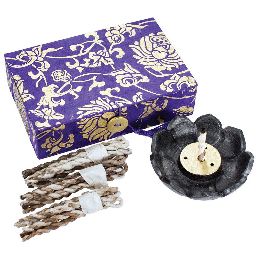 Yoga Lotus Rope Incense Box  Incense Burner for sticks incense burner for Cones incense burner backflow