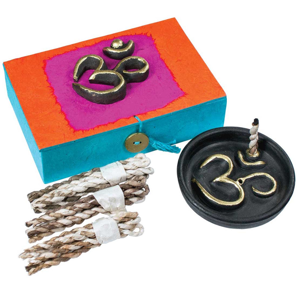 Yoga Om Rope Incense Box  Incense Burner for sticks incense burner for Cones incense burner backflow