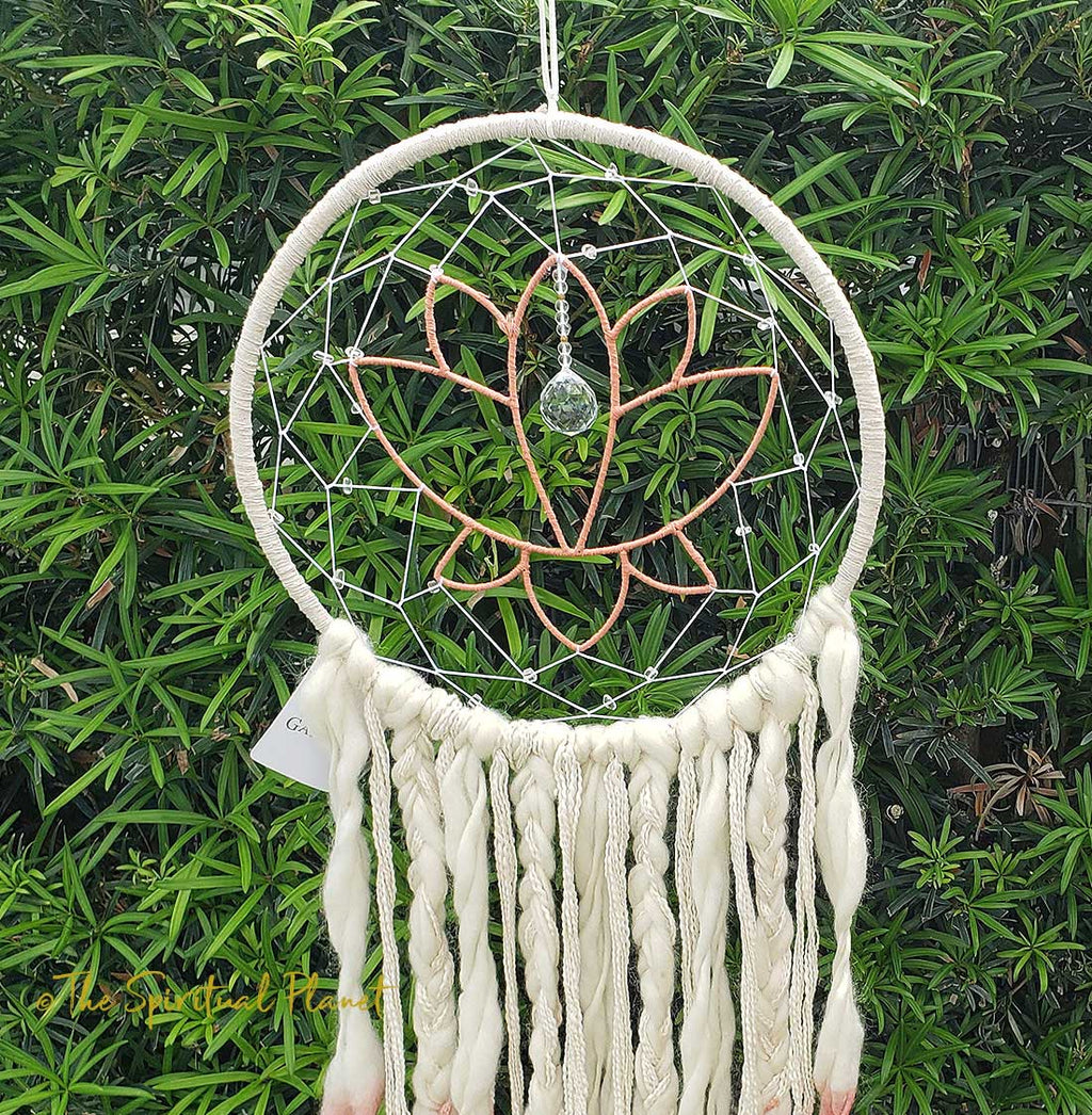 Lotus Crystal Dreamcatcher Dream Catcher Moon Dream Catcher Designs Macrame Large Dream Catcher Dreamcatcher