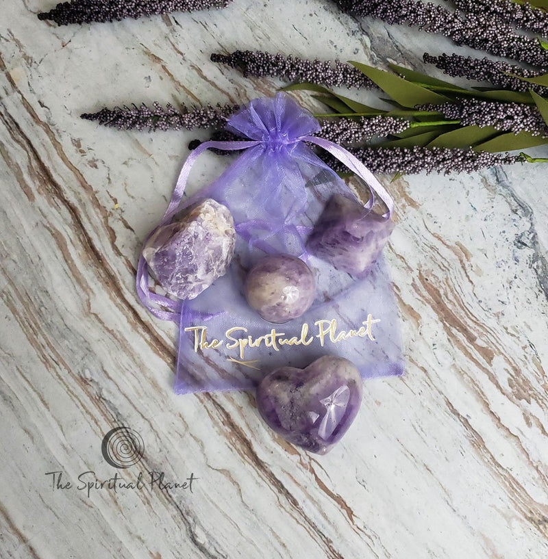 Chevron Amethyst Peace of Mind Kit intention manifest amethyst  crystal amethyst rock amethyst stone
