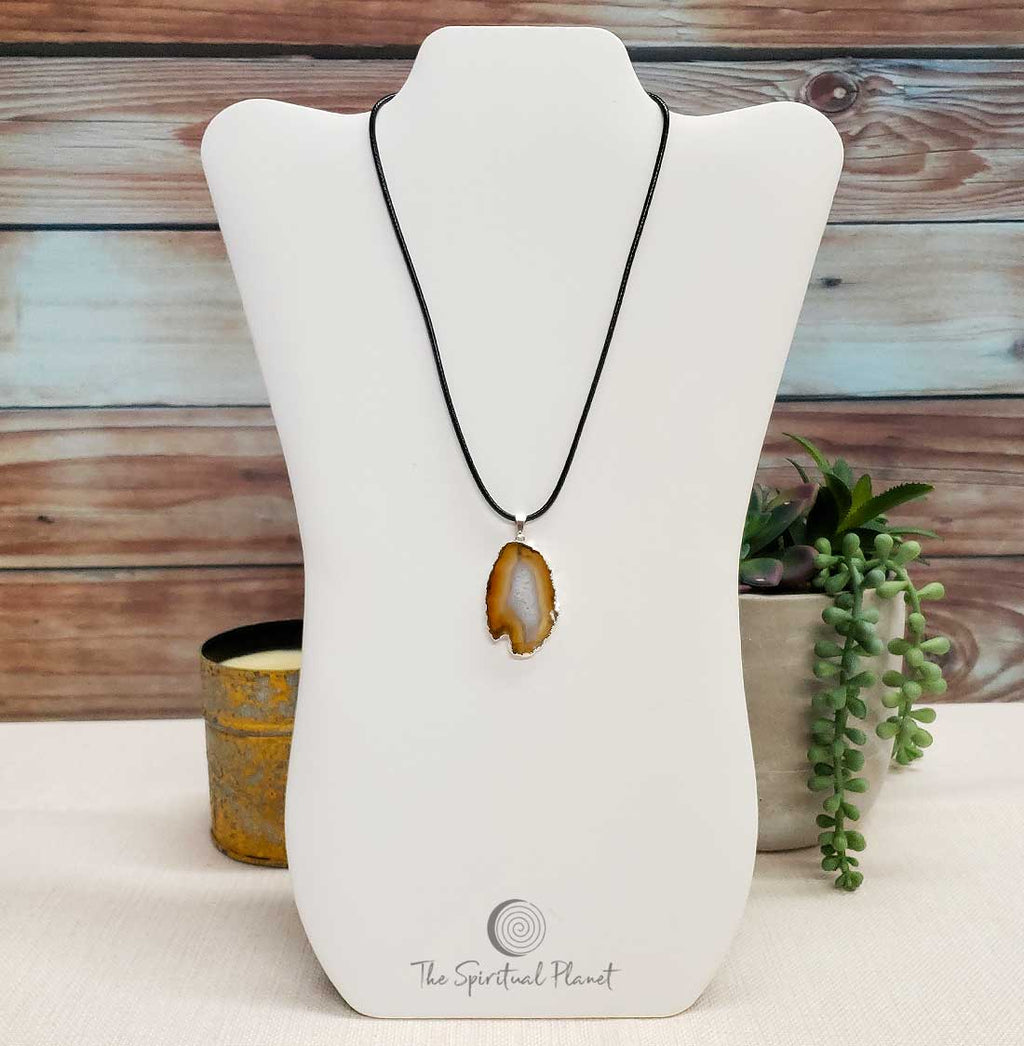 Brown Agate Pendant Necklace - The Spiritual Planet