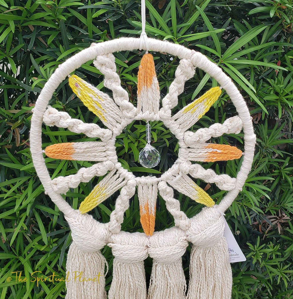 Solar Rays Dreamcatcher Dream Catcher Moon Dream Catcher Designs Macrame Large Dream Catcher Dreamcatcher