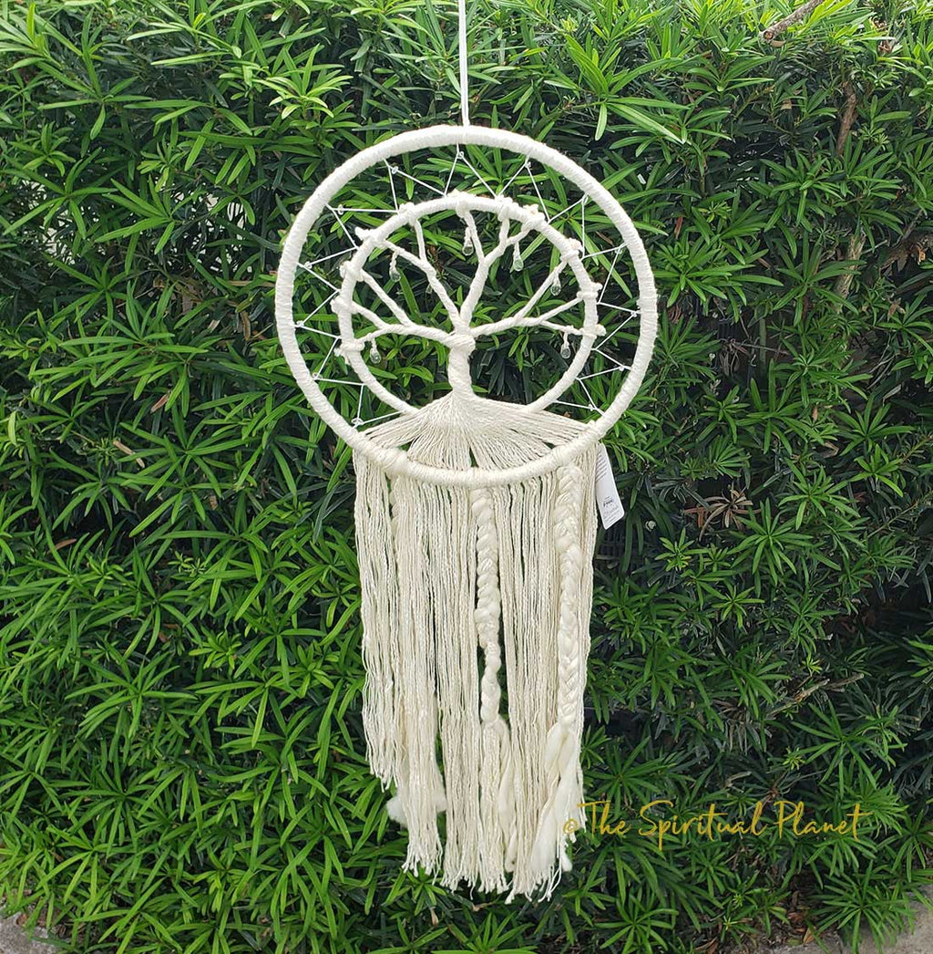 Tree of Life Crystal Dream Catcher Dream Catcher Moon Dream Catcher Designs Macrame Large Dream Catcher Dreamcatcher
