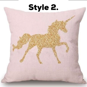 Unicorn throw cushion cover