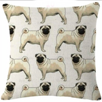 Pug throw cushion cover