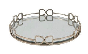D-ring straight bar bit mirrored tray