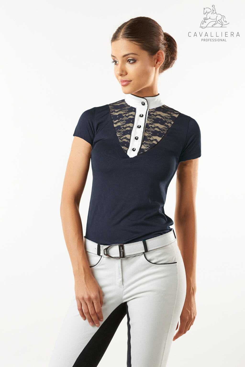 Cavalliera Lace Chic Technical Short Sleeve Shirt
