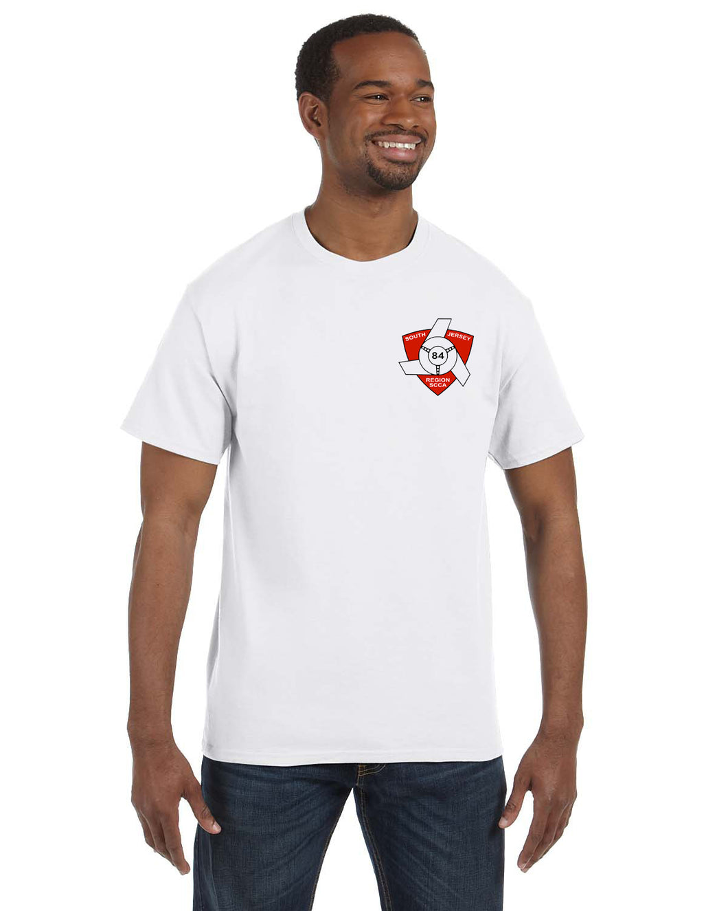 Short sleeve White T-shirt with Back graphic