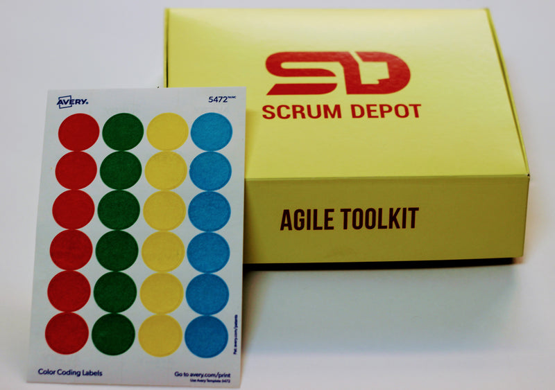 Removable Color Coding Labels 075 Inches Scrum Depot