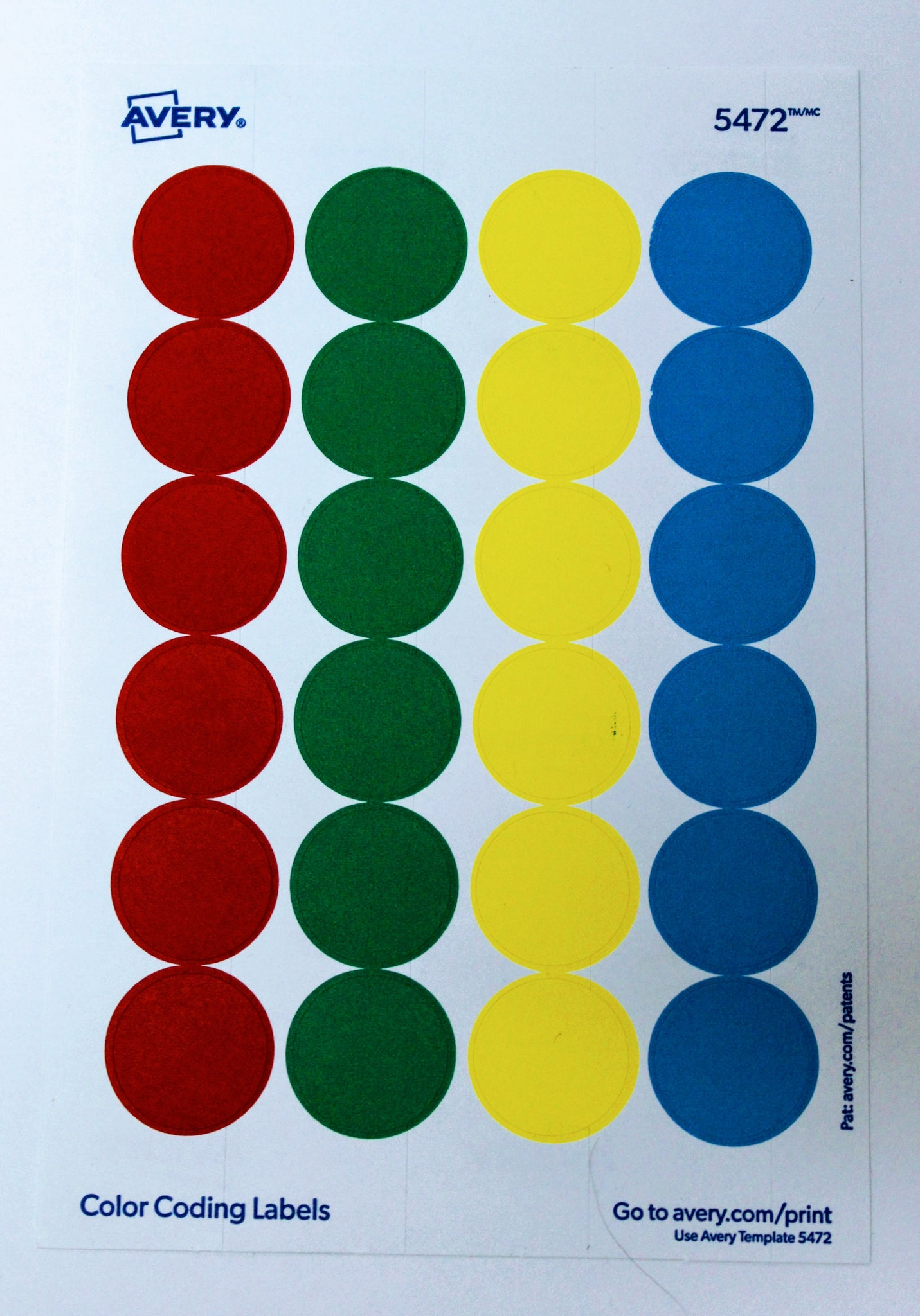 Removable Color Coding Labels 075 Inches