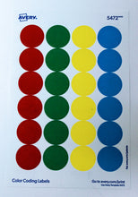 Removable Color Coding Labels, 0.75 Inches
