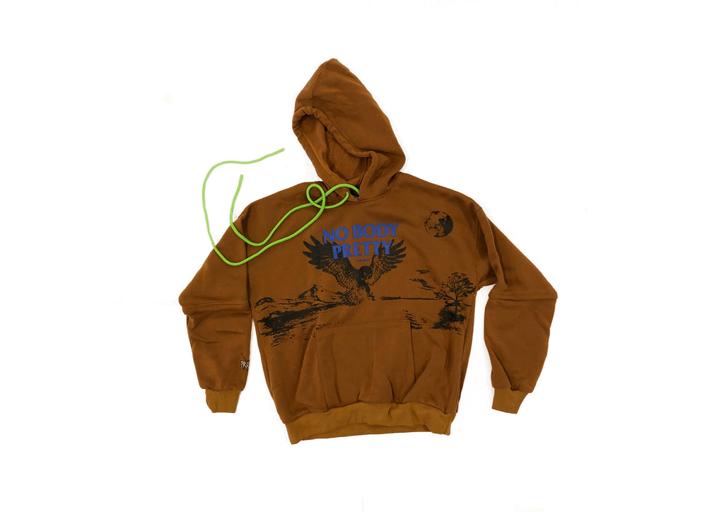 ART OF DOING NOTHING | BROWN HOODIE